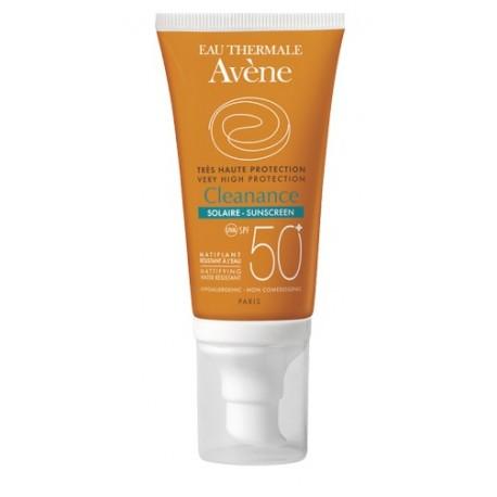 Eau Thermale Avene Cleanance SPF50+ Crema Solare Opacizzante Antiossidante 50ml