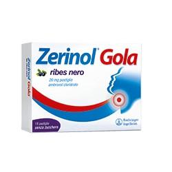 Zerinol Gola Ribes Nero 18 Pastiglie 20 mg