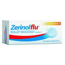 Zerinolflu 12 Compresse Effervescenti 300 mg + 2 mg + 250 mg