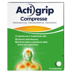 Johnson & Johnson Actigrip 12 Compresse 2,5+60+500mg