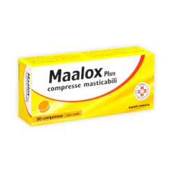 Maalox Plus 30 Compresse Masticabili 200 mg + 200 mg + 25 mg