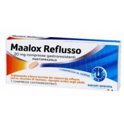 Maalox Reflusso 7 Compresse Gastroresistenti 20 mg