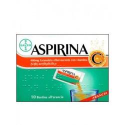 Aspirina Antinfluenzale 10 Buste Granulato Effervescente Con Vitamina C 400 mg + 240 mg