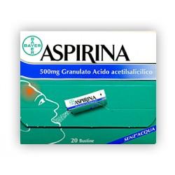 Aspirina Antinfluenzale 20 Buste Granulato Effervescente 500 mg