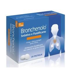 BRONCHENOLO SEDATIVO E FLUIDIFICANTE*20 pastiglie 7,5 mg + 55 mg menta