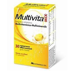 Multivitamix Effervescente Senza E Senza Glutine 30CPR Integratore Multivitaminico
