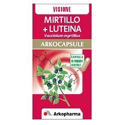 Arkopharma Mirtillo e Luteina 45 Arkocapsule Integratore Alimentare per il Microcircolo e la Vista