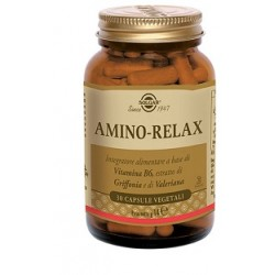 Solgar Amino Relax 30 capsule vegetali Integratore per tono umore e rilassamento