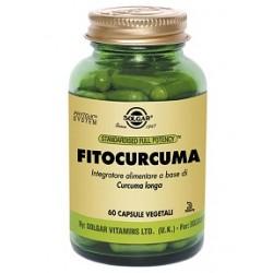 Solgar Fitocurcuma 60 capsule vegetali Integratore antiossidante multifunzionale