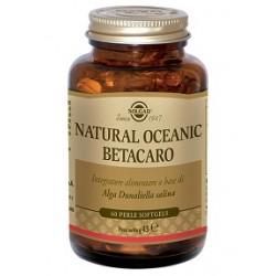 Solgar Natural Oceanic Betacarotene 60 perle Integratore antiossidante per la pelle