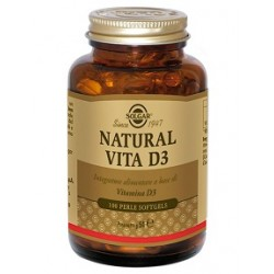 Solgar Natural Vita D3 100 perle Integratore antiossidante multifunzionale