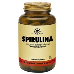 Solgar Spirulina 100 tavolette Integratore tonico ricostituente