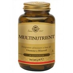 Solgar Multinutrient 30 tavolette Integratore multi-vitaminico e multi-minerale