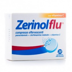 Zerinolflu 20 Compresse Effervescenti 300 mg + 2 mg + 280 mg