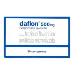 Daflon 30 Compresse Rivestite 500 mg Venotonico Vasoprotettore
