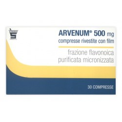 Arvenum 30 Compresse Rivestite 500 mg Venotonico Vasoprotettore