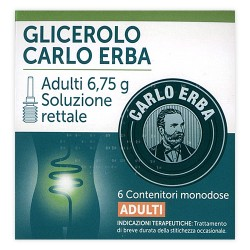 Carlo Erba Glicerolo Adulti 6 Microclismi 6,75g