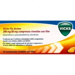 VICKS FLU ACTION*12 cpr riv 200 mg + 30 mg