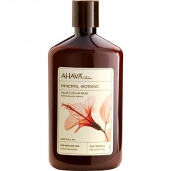 Ahava Mineral Botanic Velvet Cream Wash Bagnoschiuma Vellutante Ibisco E Fico 500ml