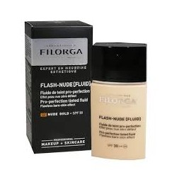 Filorga Flash Nude Light Fluid Fondotinta Fluido Doppia Azione 02 Nude Gold 30ml