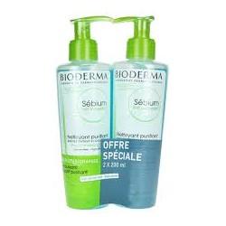 Bioderma Sebium Gel Moussant Detergente Schiumoso Purificante 2x500ml