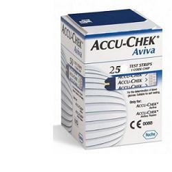 Roche Diabetes Care Italy Strisce Misurazione Glicemia Accu-chek Aviva Brk Retail 25 Pezzi