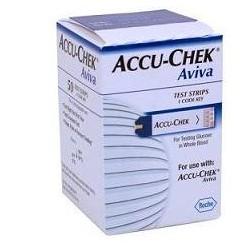Roche Diabetes Care Italy Strisce Misurazione Glicemia Accu-chek Aviva Brk Retail 50 Pezzi