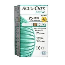 Roche Diabetes Care Italy Strisce Misurazione Glicemia Accu-chek Active Mic Retail 25 Pezzi