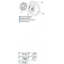 Glaxosmithkline Camera Distanziatrice Con Valvola Per Aerosol Dosati Aerochamber Plus Mask Infanti