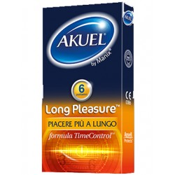 Nova Argentia Profilattico Ansell Akuel By Manix Long Pleasure 6 Pezzi