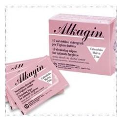 Ist. Ganassini Alkagin Salviette Detergenti Per Igiene Intima Monouso 10 Pezzi