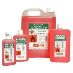 Alcoolital Alcool Etilico Denaturato 90% 500 Ml