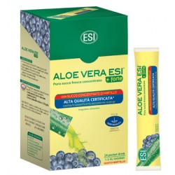 Esi Aloe Vera Succo + Forte Mirtillo 24 Pocket Drink