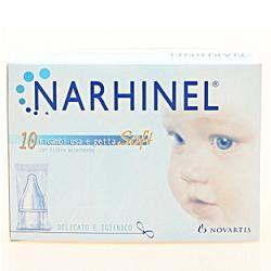 Narhinel Ricarica Usa & Getta Per Aspiratore Nasale 10 Ricambi Soft