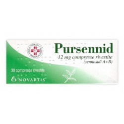 Pursennid Lassativo 30 Compresse Rivestite 12 mg