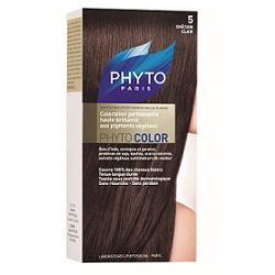 Phyto Phytocolor 5 Castano Chiaro Colorazione capelli lunga durata