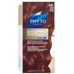 Phyto Phytocolor 6AC Biondo Scuro Mogano Ramato Colorazione capelli lunga durata