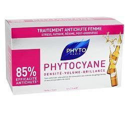 PHYTO PHYTOCYANE TRATTAMENTO ANTICADUTA CAPELLI DONNA 12 FIALE 7,5 ML