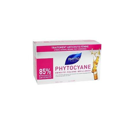 Phyto Phytocyane 12 Fiale Donna Trattamento Anticaduta Capelli