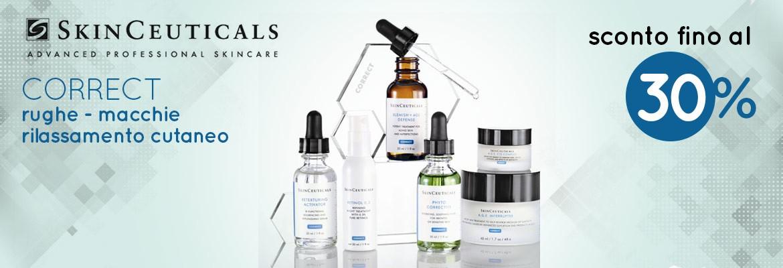 Tutti i trattamenti correttivi SkinCeuticals per ridurre le macchie sul viso con sconti fino al -30%!
