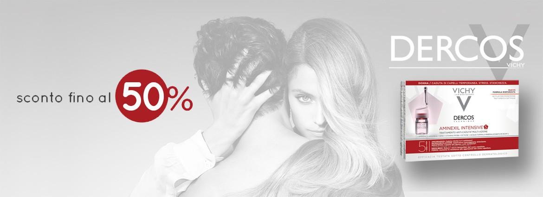 50% di sconto sul trattamento anticaduta per capelli in fiale di Vichy